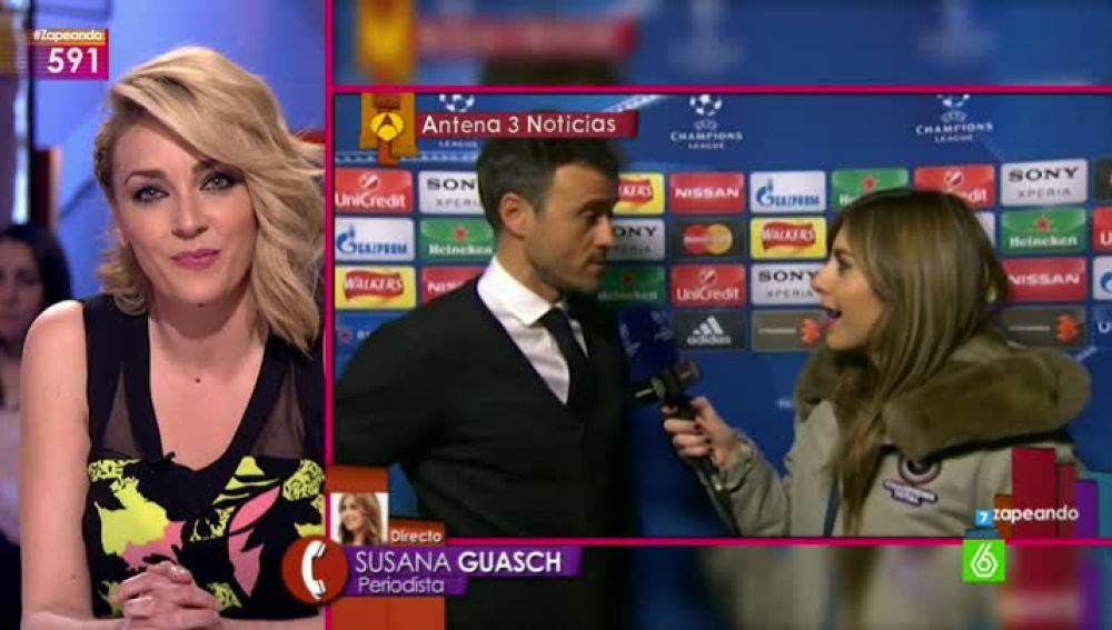 Susana Guasch entra en directo en Zapeando