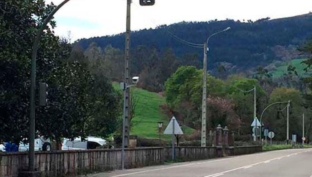Imagen del radar 'solidario' instalado en el municipio cántabro