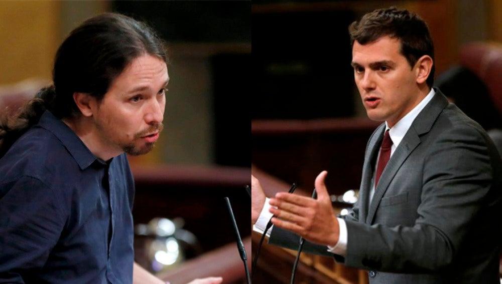 Pablo Igleisas y Albert Rivera en el Congreso