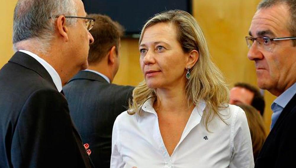 La diputada de Podemos Victoria Rosell en la Comisión de Justicia del Congreso