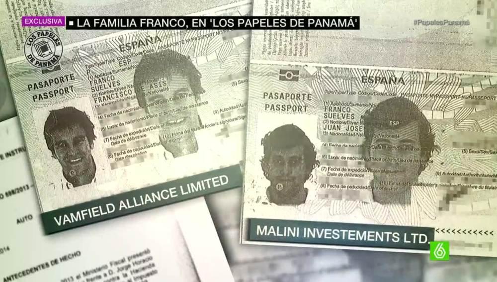Dos bisnietos de Franco tuvieron sociedades offshore