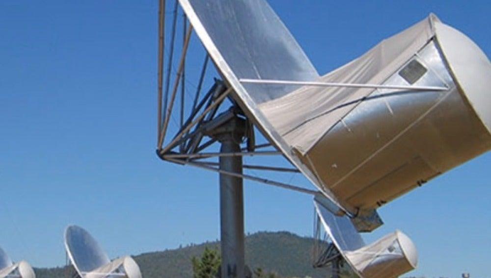 Parte de los 42 telescopios que forman parte del Allen Telescope Array