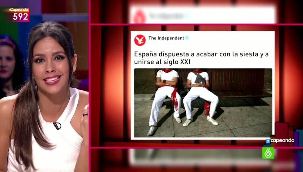 Cristina Pedroche contesta a la prensa extranjera