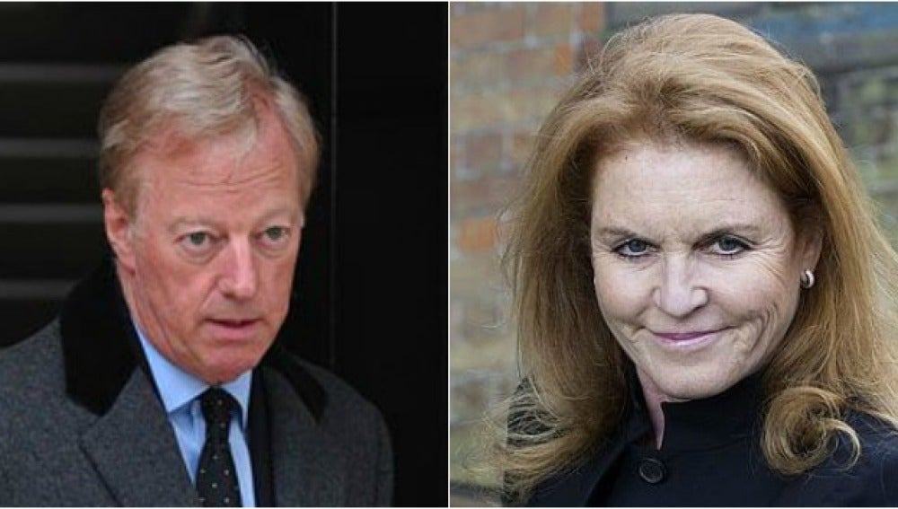 Mark Thatcher y Sarah Ferguson