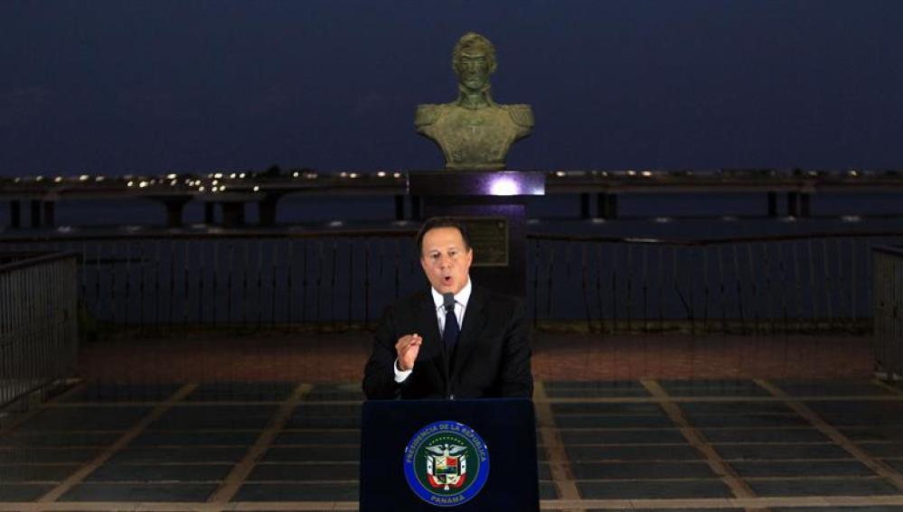 El presidente panameño, Juan Carlos Varela