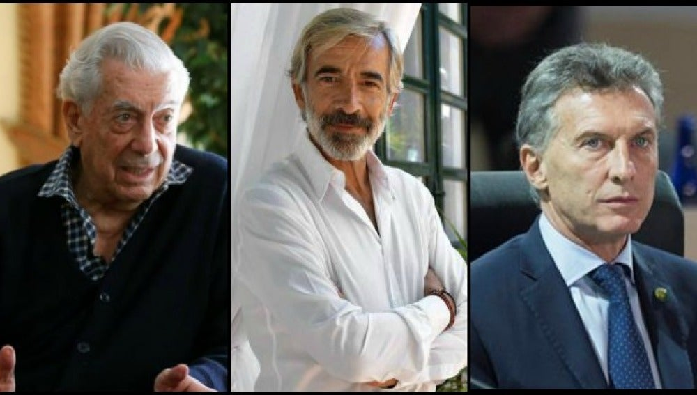 Mauricio Macri, Vargas Llosa, Imanol Arias