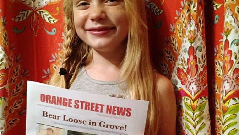 La vocación de una niña de nueve años por ser periodista