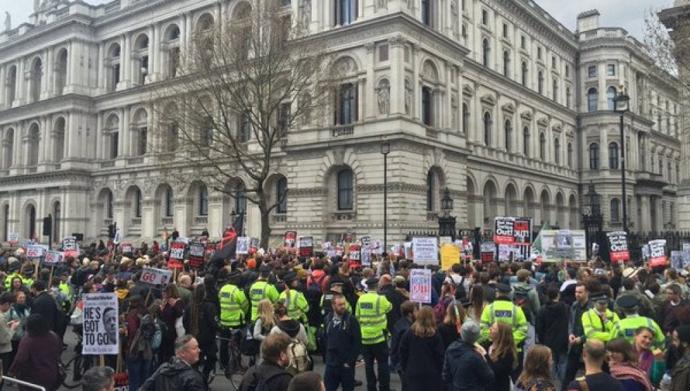 Manifestación en Londres contra David Cameron por los 'papeles de Panamá'