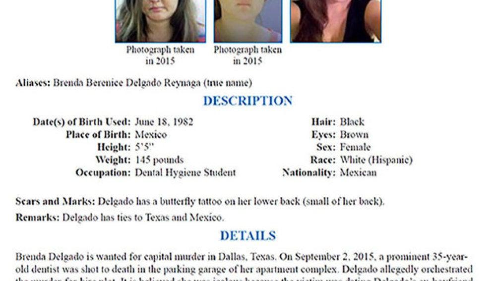 Brenda Delgado, la más buscada por el FBI