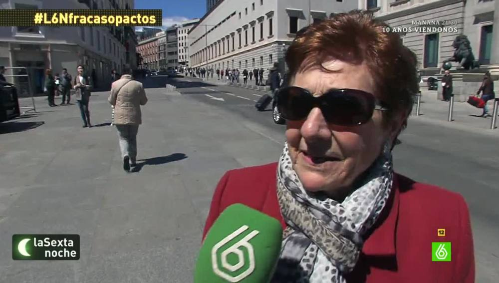 La calle opina sobre la  situación política