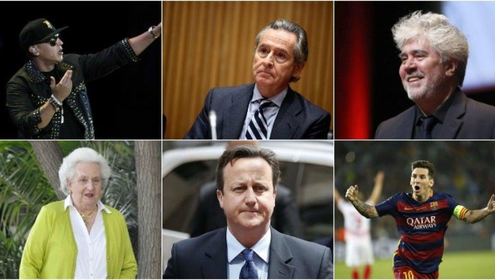 Daddy Yankee, Blesa, Almodóvar, Pilar de Borbón, Cameron, Messi
