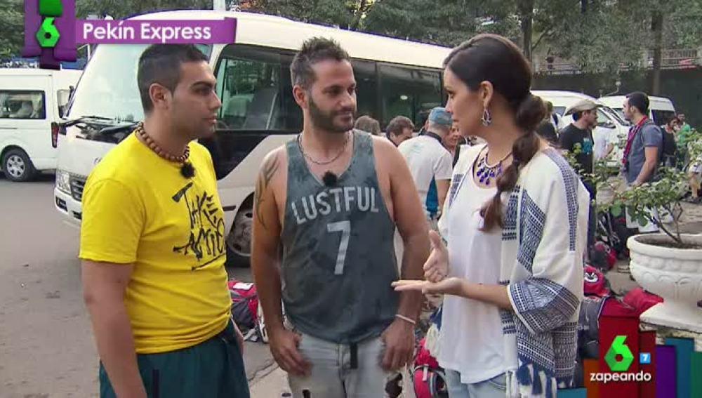 Cristina Pedroche, con Quintín y Nacho