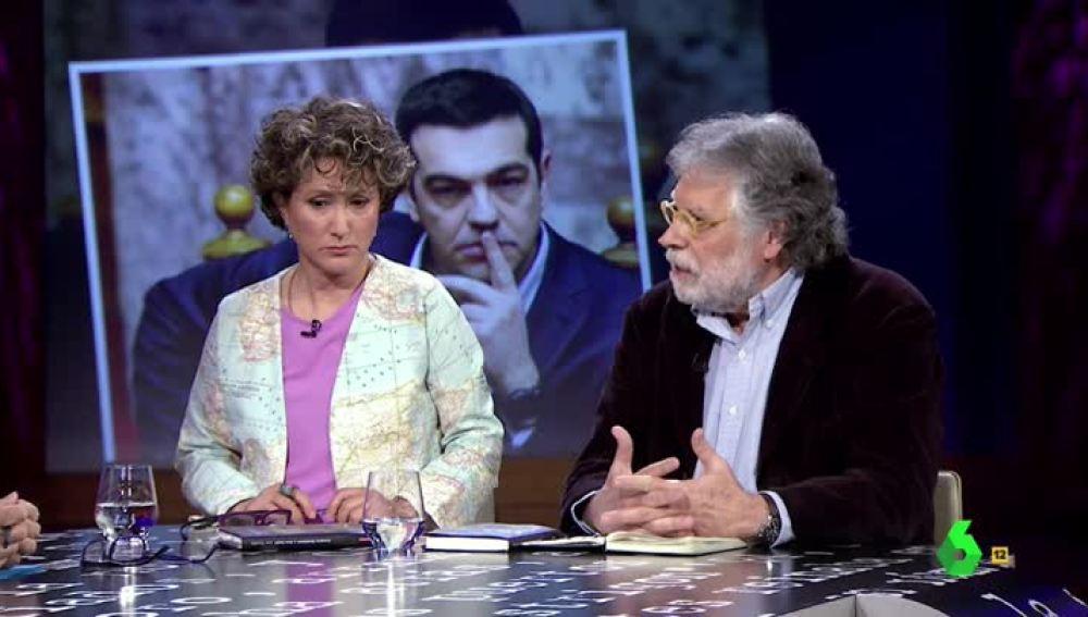Los periodistas Joaquín Estefanía y Ana Cañil visitan El Intermedio
