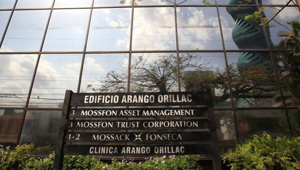 Entrada al despacho de Mossack Fonseca