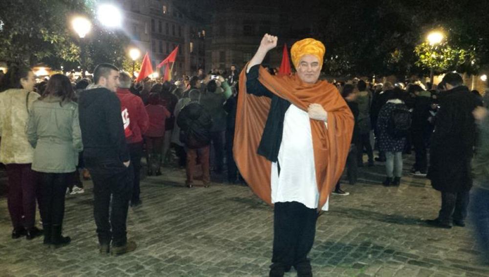 Shangay Lily, en una protesta
