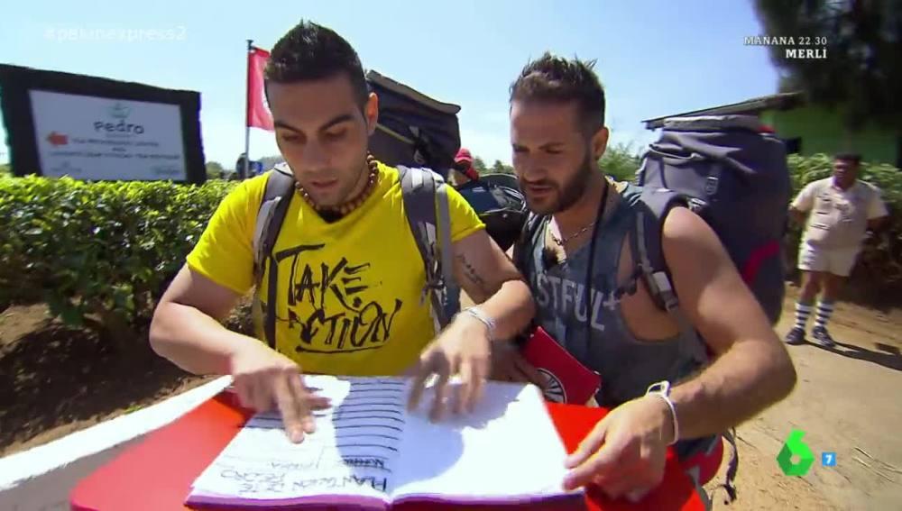 Quintín y Nacho llegan los primeros al libro rojo