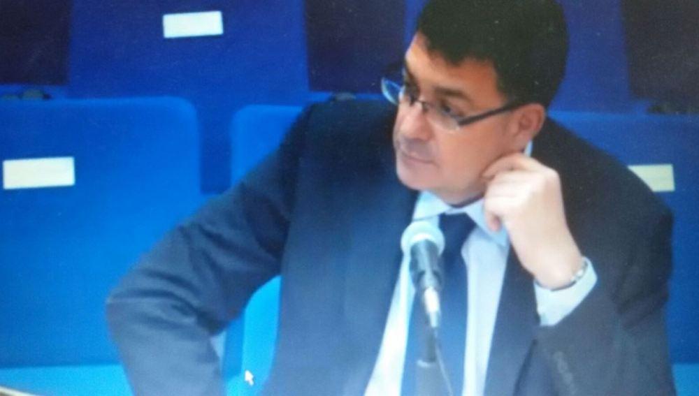 Imagen del presidente de las Cortes Valencianas, Enric Morera