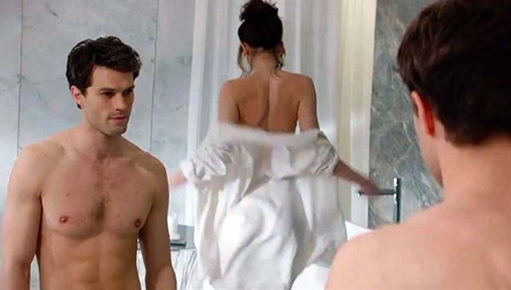 Una de las escenas de la película '50 sombras de Grey'