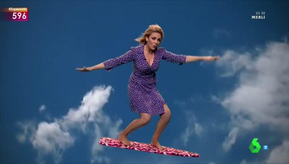 Anna Simon y su tabla voladora