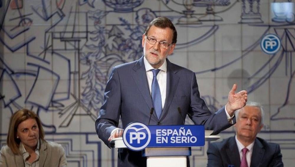 Mariano Rajoy durante un acto en Cuenca