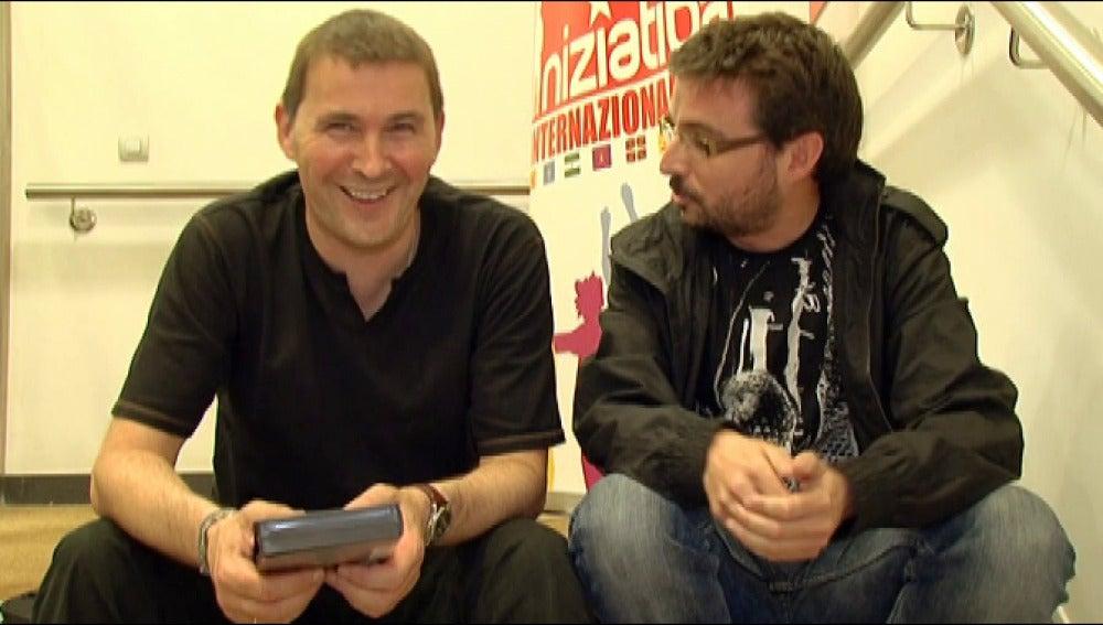 Arnaldo Otegi con Jordi Évole en 2009 en Salvados