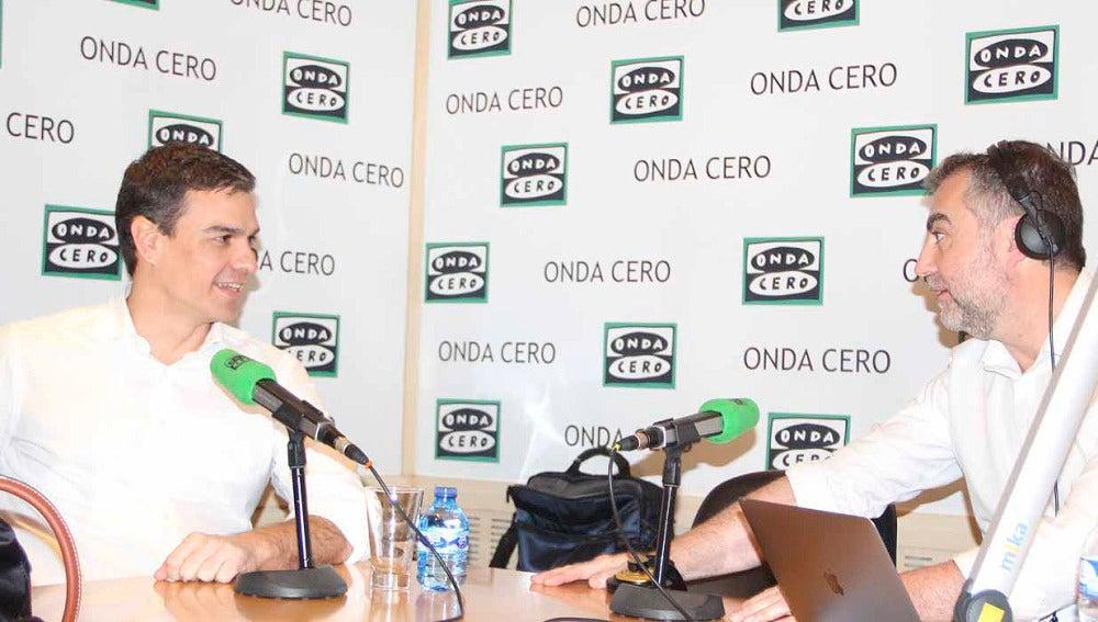 Carlos Alsina entrevista a Pedro Sánchez en 'Más de uno'