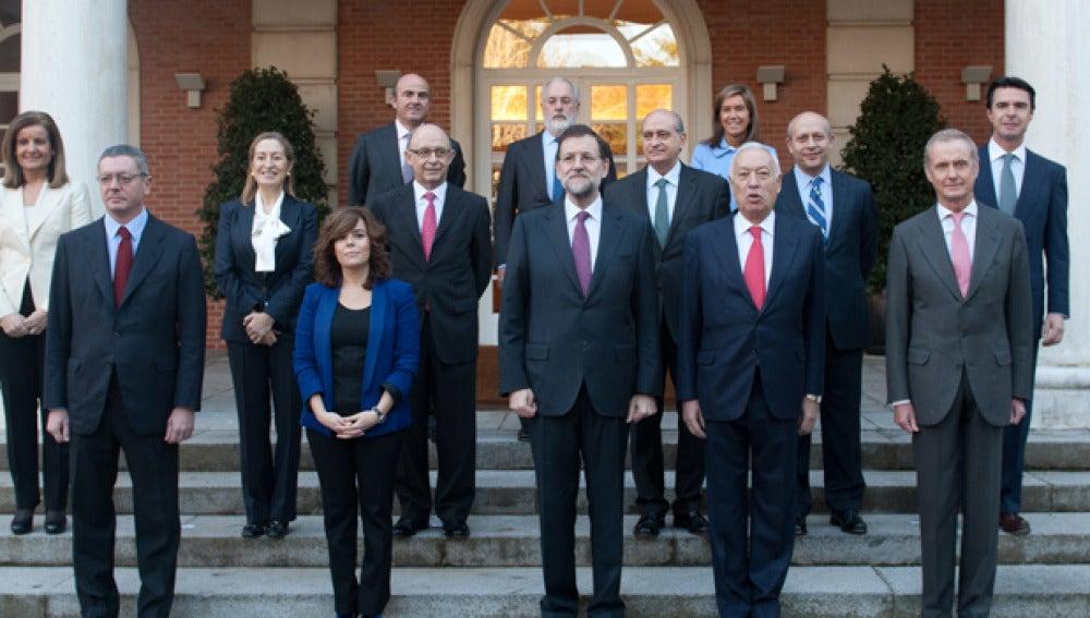 Gobierno de Mariano Rajoy con sus ministros iniciales
