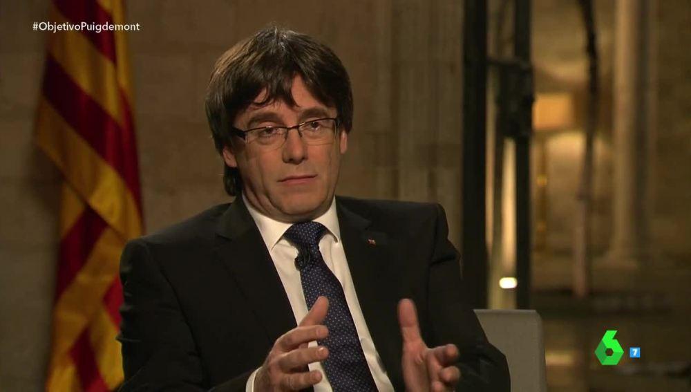 Carles Puigdemont, en El Objetivo