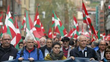 Manifestación de expresos y antiguos huidos de ETA