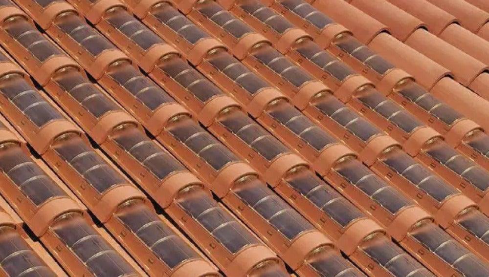 Tejas solares o fotovoltaicas