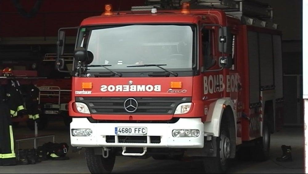 Vehículo del parque de bomberos de Gijón