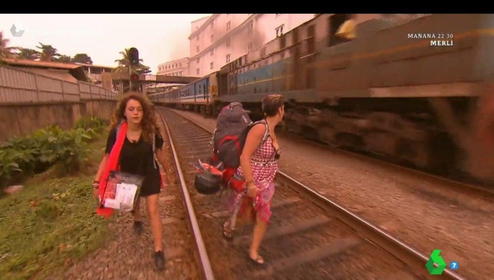 Pekín Express en la costa de Sri Lanka