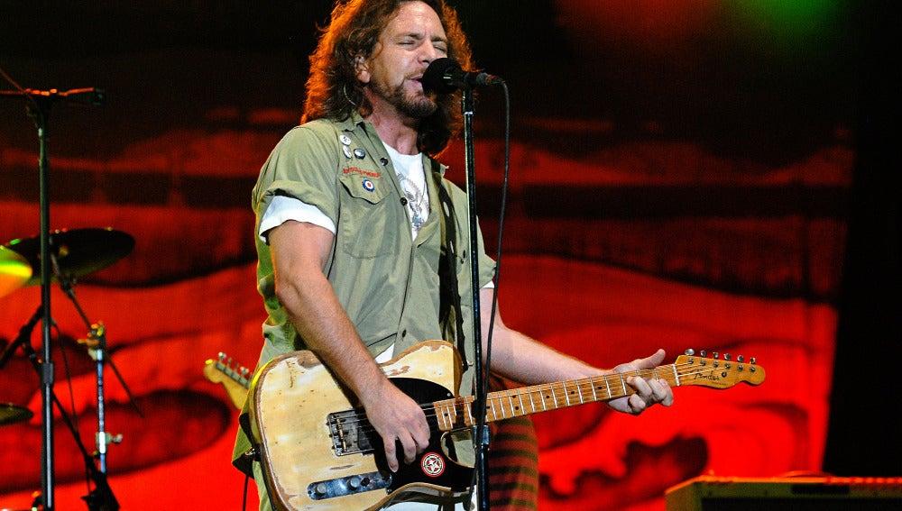 El cantante de Pearl Jam, Eddie Vedder