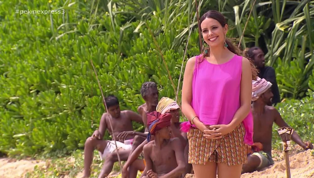 Cristina Pedroche en la costa de Sri Lanka