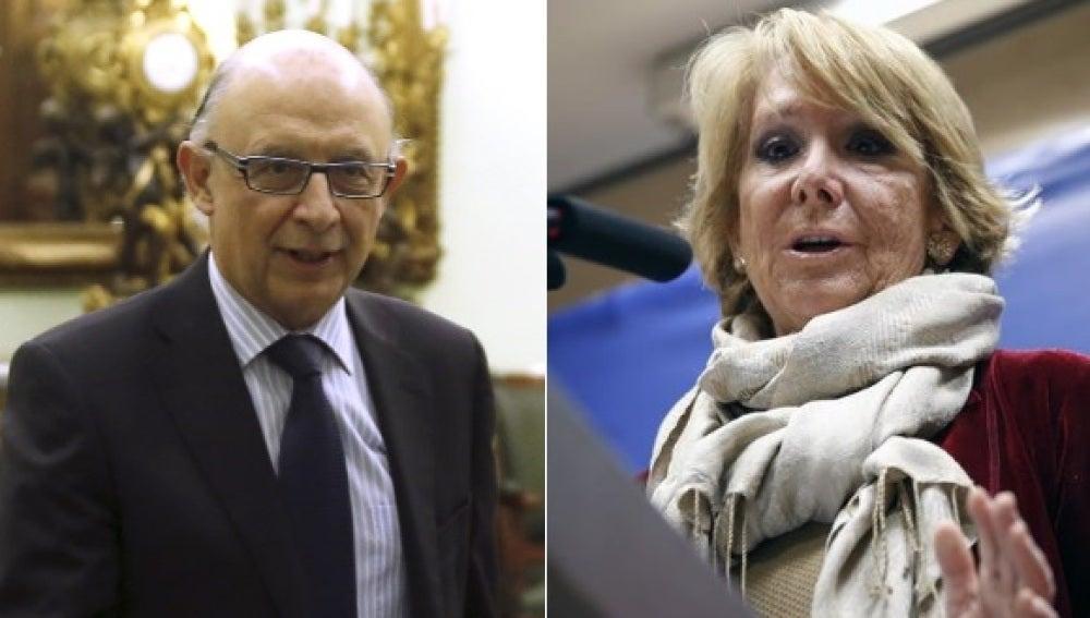 Cristóbal Montoro y Esperanza Aguirre