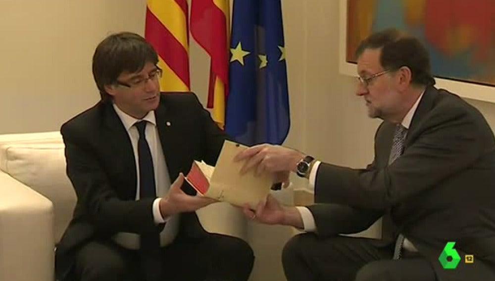 Rajoy se reúne con Puigdemont