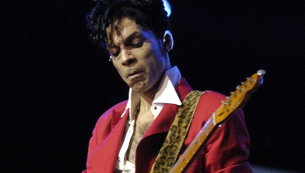 El cantante Prince, durante un concierto