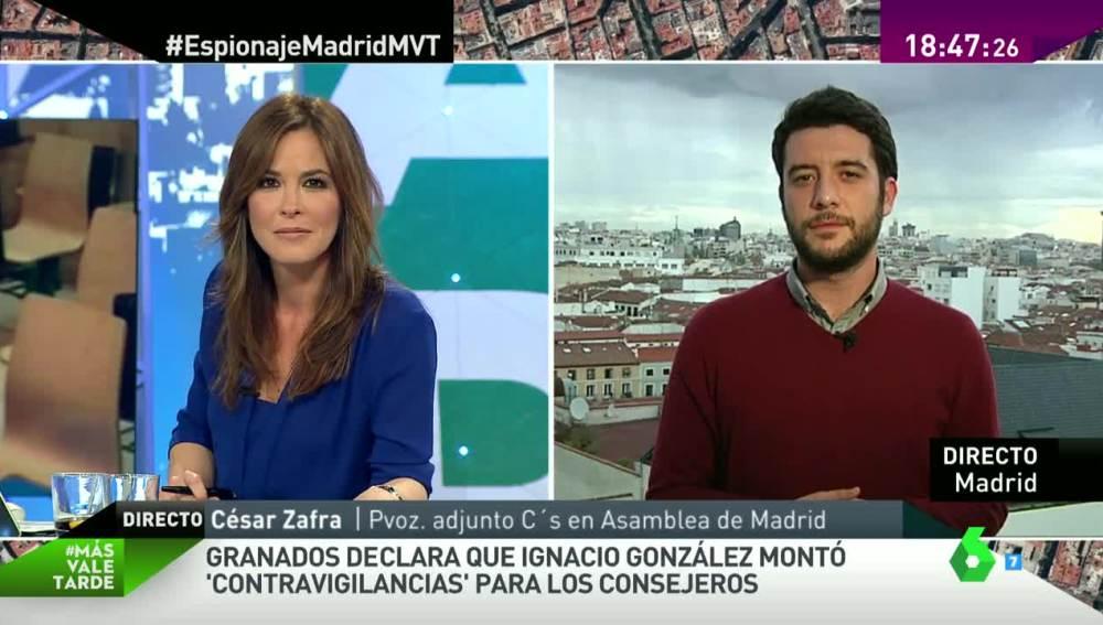 Mamen Mendizábal y César Zafra