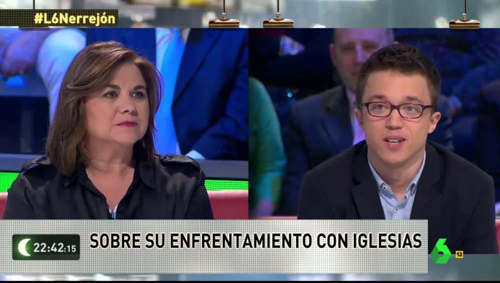 Íñigo Errejón responde a Lucía Méndez en laSexta Noche