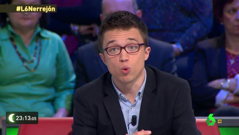 Íñigo Errejón, en laSexta Noche