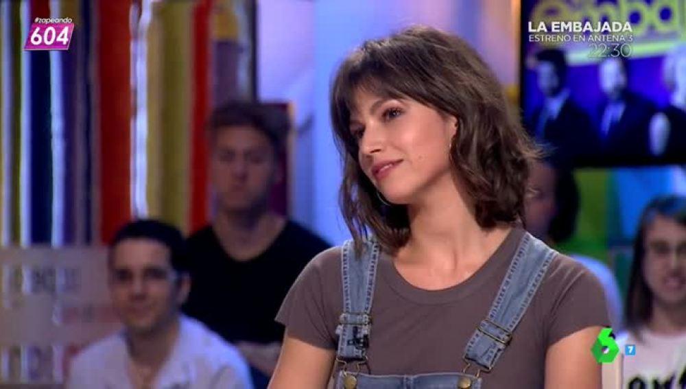 Úrsula Corberó, en Zapeando