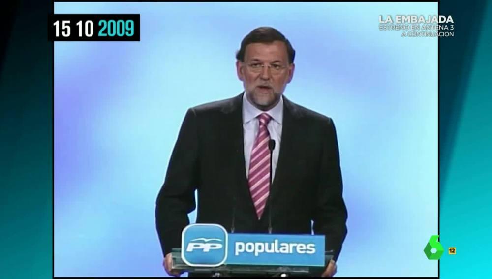 Rajoy en 2009