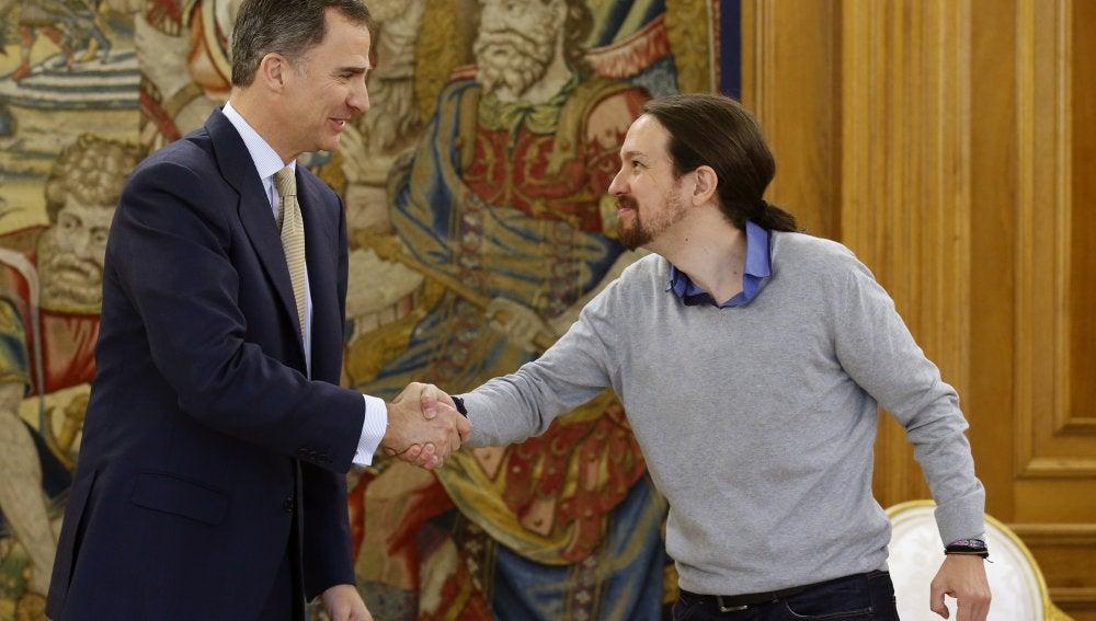 Pablo Iglesias, con Felipe VI
