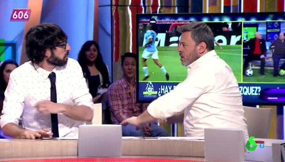 "Miki Nadal reproduce el penalti a Lucas Vázquez con Quique Peinado: ""¡Agárrate las gafas!"""