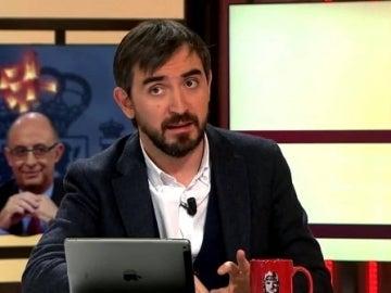Ignacio Escolar, durante una tertulia en Al Rojo Vivo