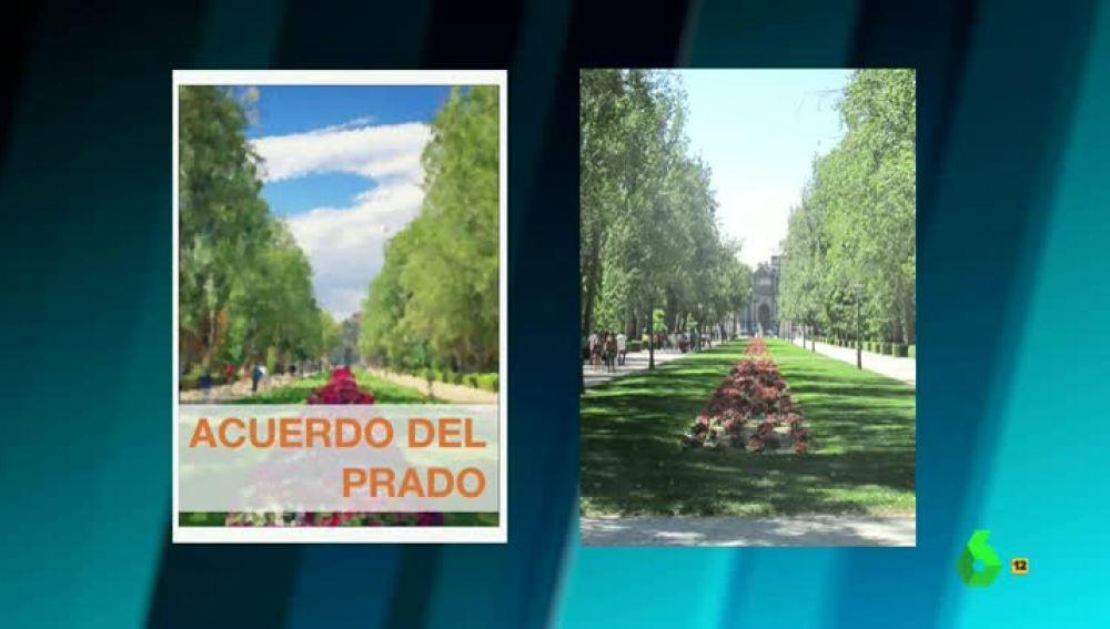 El acuerdo del Prado con una foto del Retiro