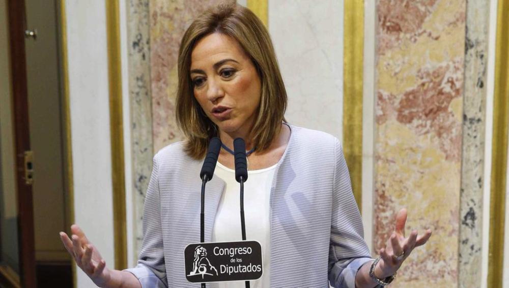 Carme Chacón, en el Congreso