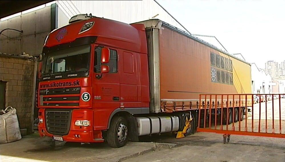 Foto de archivo de un camión