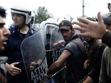 Enfrentamientos en Idomeni