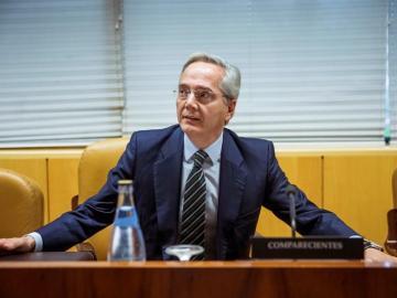 El exdiputado Pedro Gómez de la Serna durante su comparecencia en la comisión de investigación